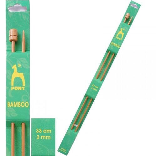 Pony Bamboo Flexible Needles 33cm