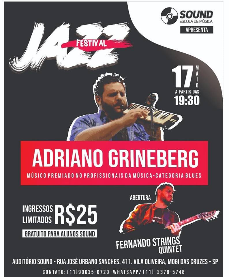Jazz Festival com Adriano Grineberg