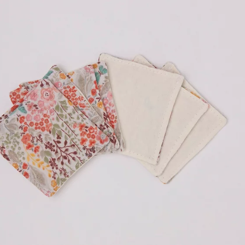 copy of Reusable Make-up Wipes - Rainbow Floral