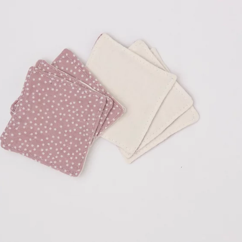 Reusable Make-up Wipes - Pink Dots
