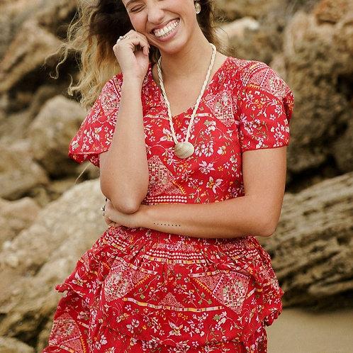 Maya Mini Dress in Desert Rose