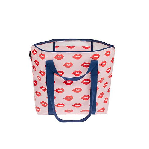 Project 10 - Red Lips Medium Zip Tote