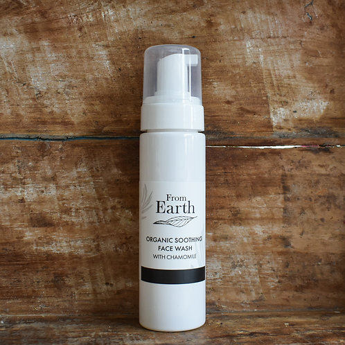 From Earth Organic Face Wash – With Soothing Chamomile