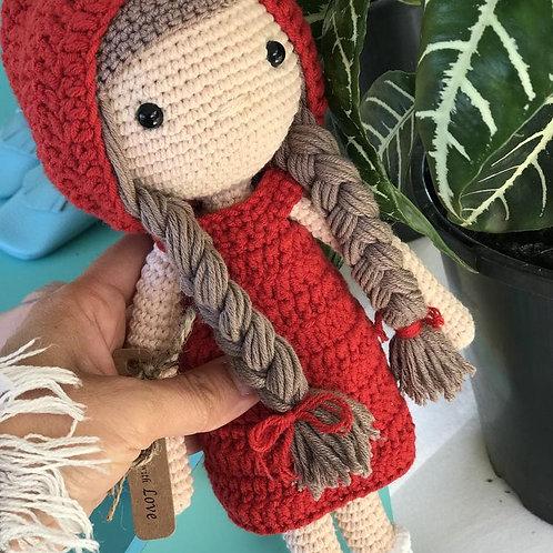 Little Red Crochet Doll