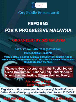G25 to hold public forum on good governance on Jan 27