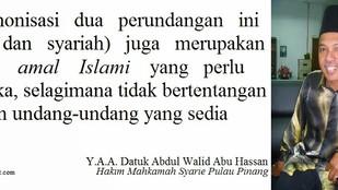 Undang-undang Syariah wajar mencapai piawaian tertinggi dalam hal keadilan