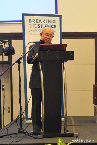 "YBM Tengku Razaleigh's speech at G25's book launch ""Breaking The Silence"""