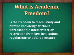 Standing behind academic freedom
