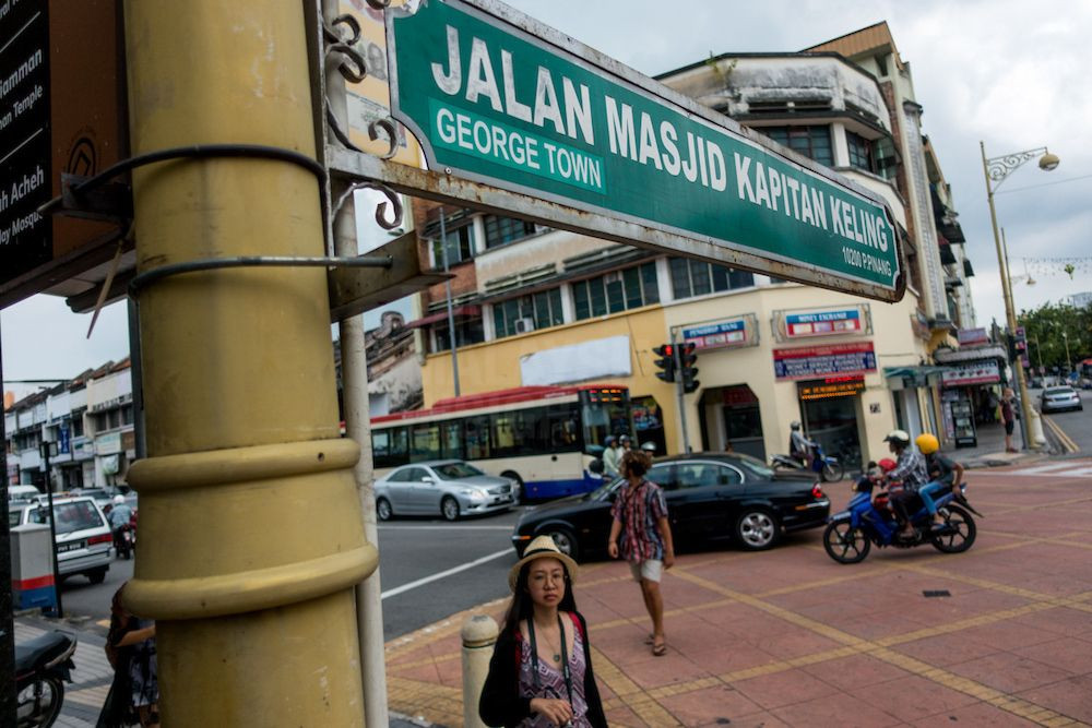 "The ""Street of Harmony"" in Penang starts with the St George's Church at Jalan Masjid Kapitan Keling, and ends at Acheen Street Mosque at the end of the junction of Lebuh Cannon and Lebuh Acheh. – The Malaysian Insight pic by Hasnoor Hussain, June 10, 2017."