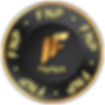 A FNP token, it's a black circle with gold text all around inside it spelling FNP.