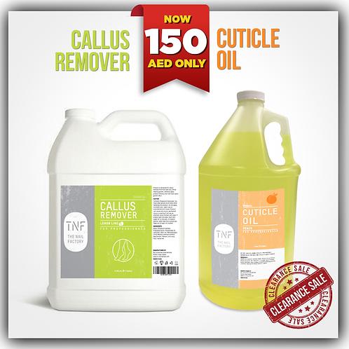 CUTICLE OIL 128oz + CALLUS REMOVER 128oz