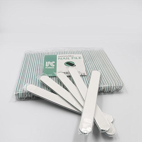 DISPOSABLE NAIL FILE WHITE GRIT 80 / 150