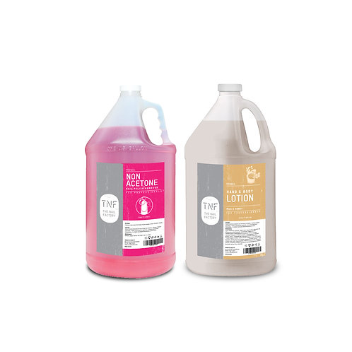 NAIL POLISH REMOVER 128oz + HAND & BODY LOTION 128oz