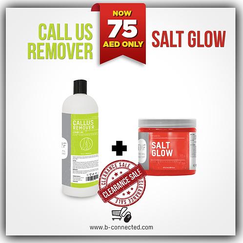 CALLUS REMOVER 32OZ + SALT GLOW 16OZ