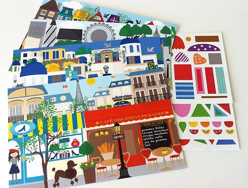 Make-a-Scene Sticker Set: European Cities