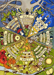 A4 print 'Wheel of the Year' Wiccan vers