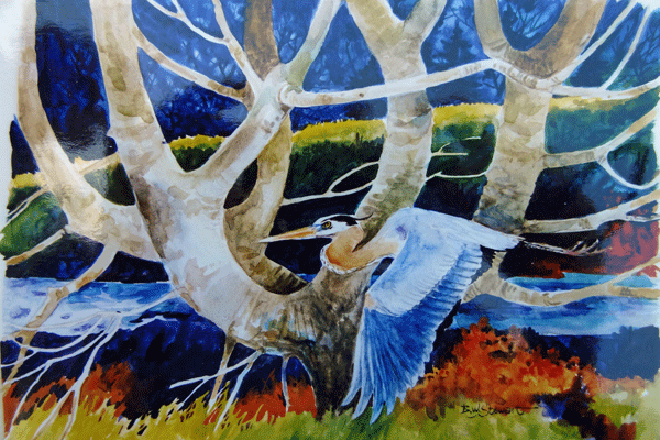 Egret-Watercolor