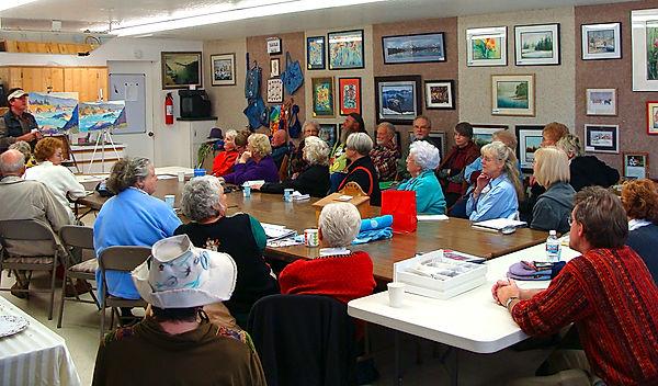 Manley Art Center PBAA meeting in the Classroom
