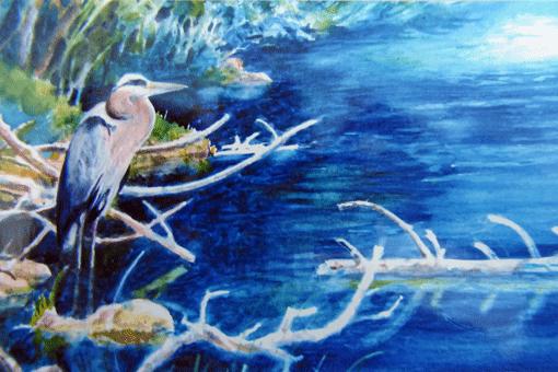 Standing-Egret-Watercolor