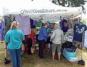 Festival of Art in Stout Park - Christina Olsen Booth