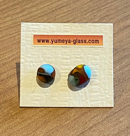 stone glass ピアス