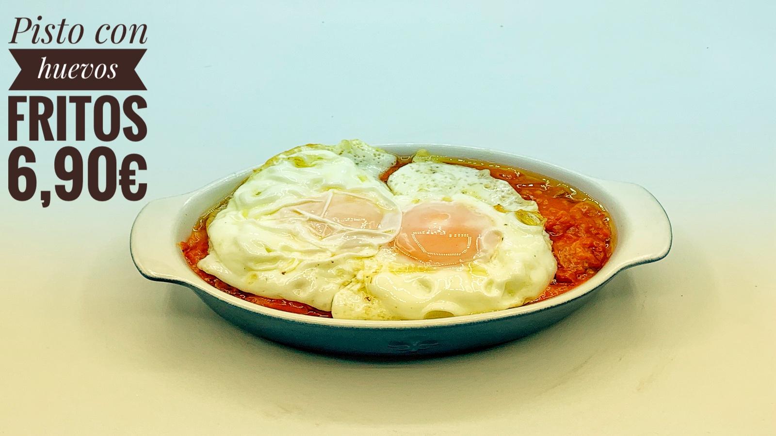 Pisto con huevos fritos Hotel Don Juan.j