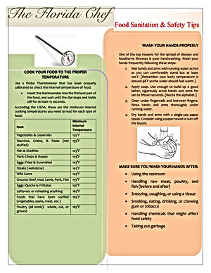 Food Safety and Sanitation Guide- Front