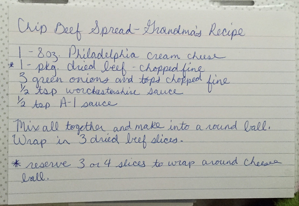 Grandma Maxene's recipe for Chip Beef Spread