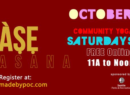 Àṣẹ Asana Community Yoga in October