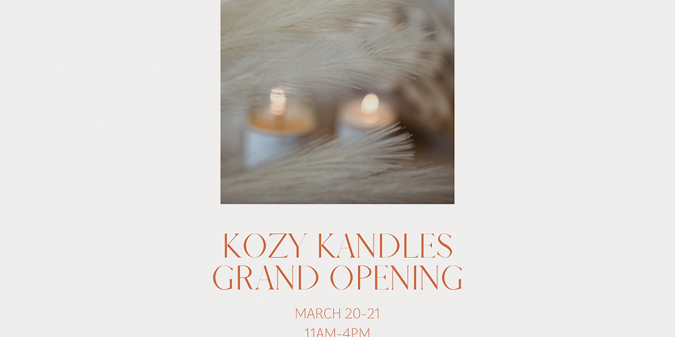 Kozy Kandles Grand Opening