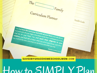 How to SIMPLY Plan for Success in Your Homeschool