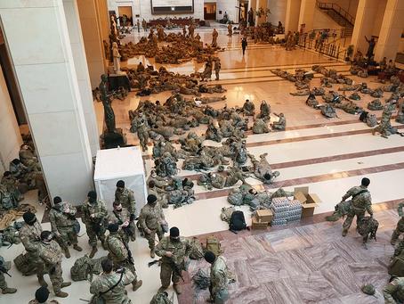 Troops Sleep on a nice comfy capitol floor