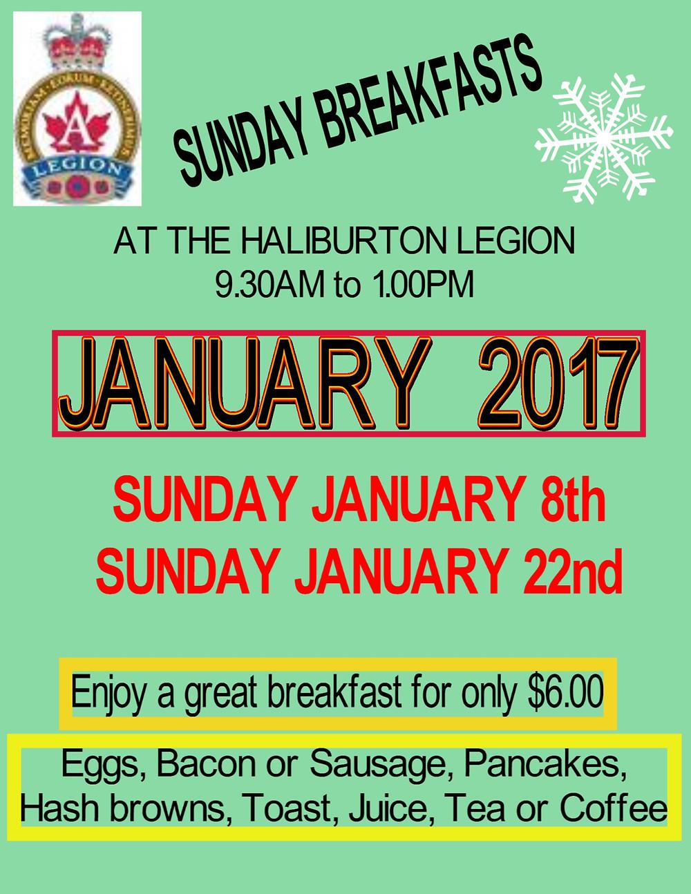 January Sunday Breakfast