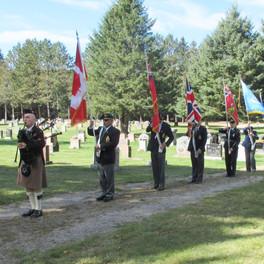 12. Haliburton Legion Colour Party Marching off.jpg