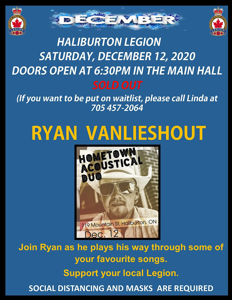 2020 December 12 Ryan vanLieshout event