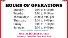 HALIBURTON LEGION HOLIDAY HOURS