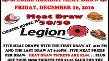 The Holiday Meat Draw is December 16th