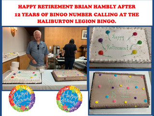 Happy Retirement from Bingo Calling for Brian Hambly