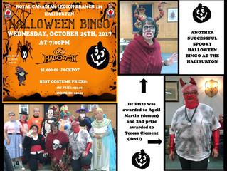 Another great time at the Haliburton Legion's Halloween Bingo Bash