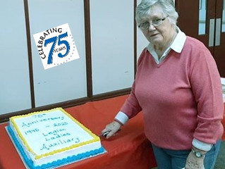 Haliburton Legion Ladies Auxiliary 75th Charter Anniversary