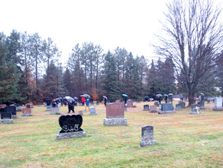 Bells of Peace Project: Placing flags on the World War I Veteran's grave sites at the Evergreen