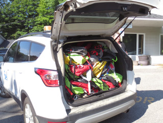 The Haliburton Legion's Ladies Auxiliary donates to Bell Canada's Backpacks for Kids Program