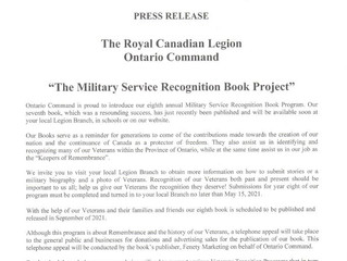 The Military Service Recognition Book Project 2021