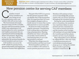 New Pension Centre for Serving CAF Members