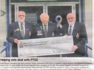 Haliburton Legion Donates to the Vet II Vet Program