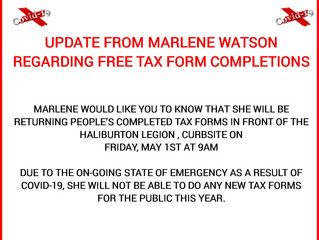 Message from Marlene Watson regarding your tax forms