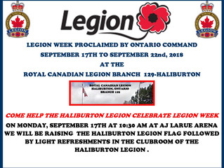 Thank you for helping us celebrate Legion Week on Monday, September 17th, 2018