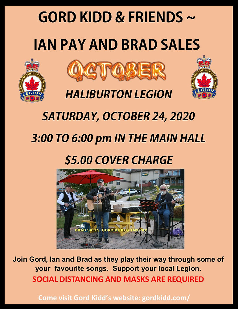 2020 October 24, 2020 Gord Kidd at Halib