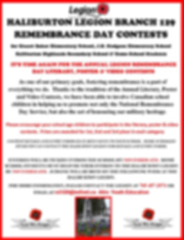Poster for Remembrance Day Contest 2019