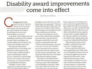 Disability award improvements come into effect